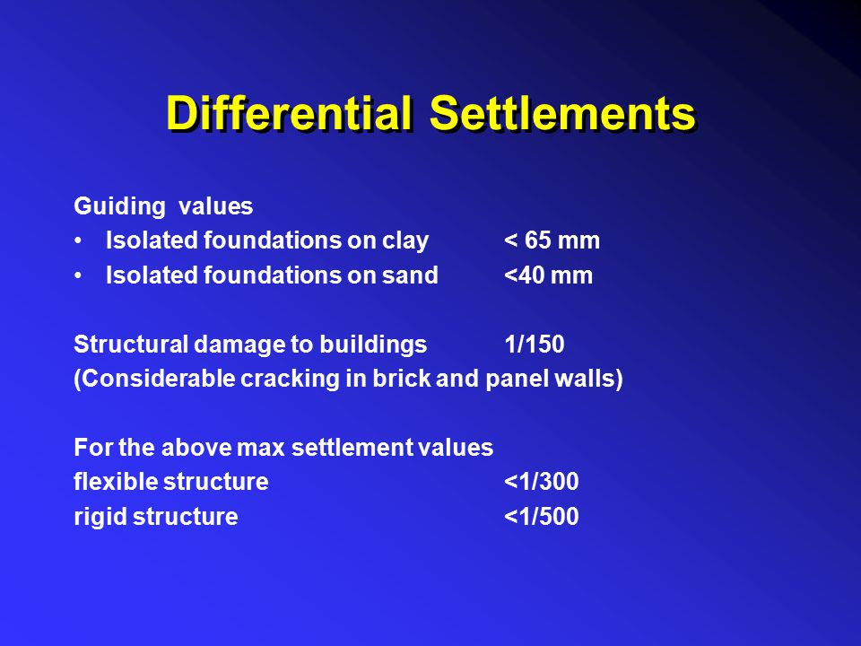 Differential Settlements