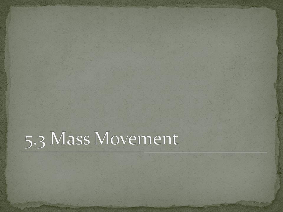 5.3 Mass Movement