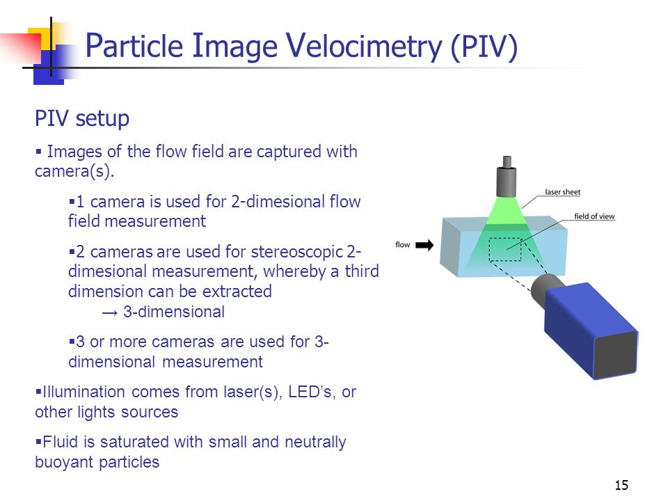 Particle Image Velocimetry (PIV)