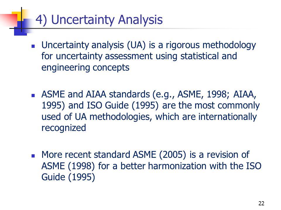 4) Uncertainty Analysis