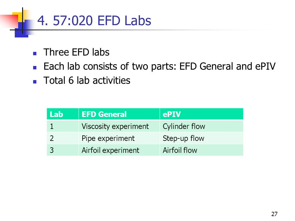 4. 57:020 EFD Labs Three EFD labs