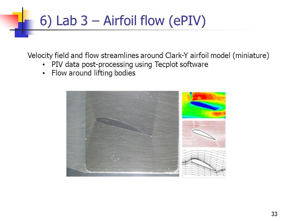 6) Lab 3 – Airfoil flow (ePIV)