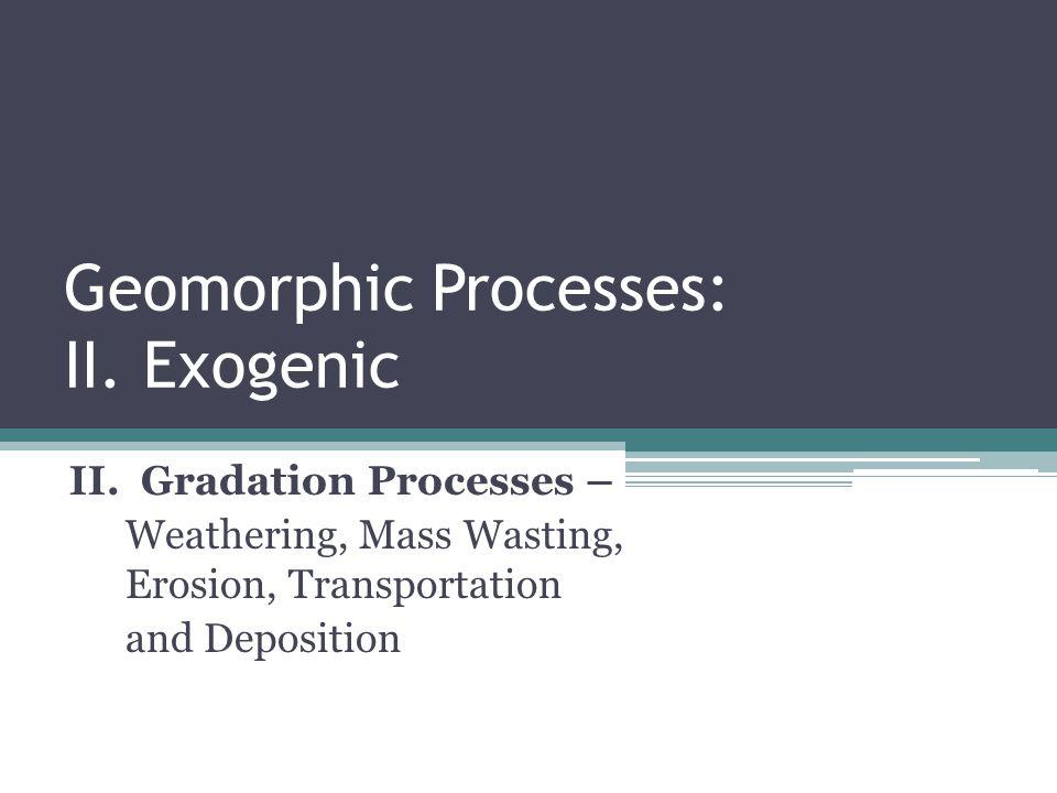 Geomorphic Processes: II. Exogenic
