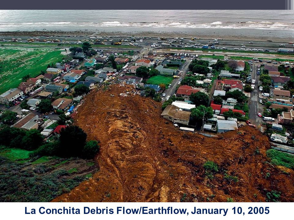 La Conchita Debris Flow/Earthflow, January 10, 2005