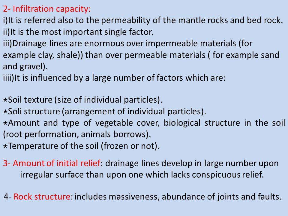 2- Infiltration capacity: