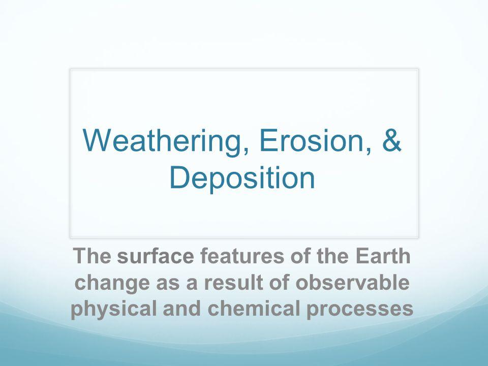 Weathering, Erosion, & Deposition
