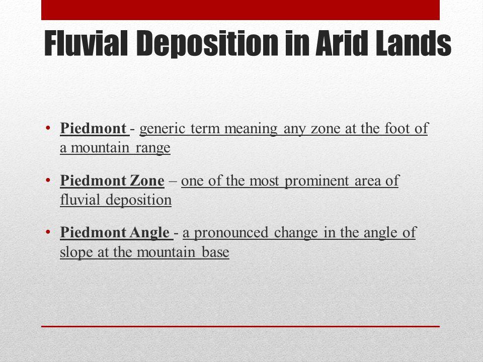 Fluvial Deposition in Arid Lands
