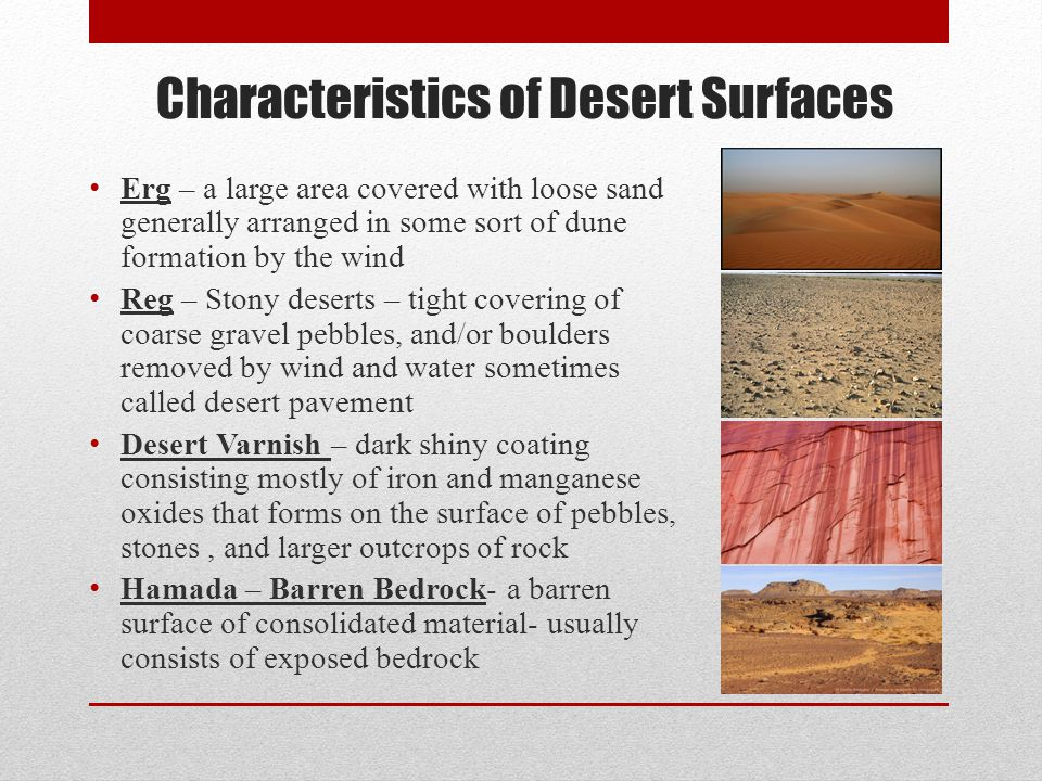 Characteristics of Desert Surfaces