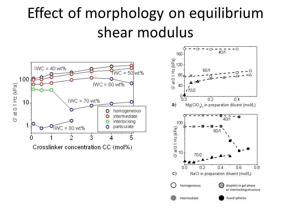 Effect of morphology on equilibrium shear modulus