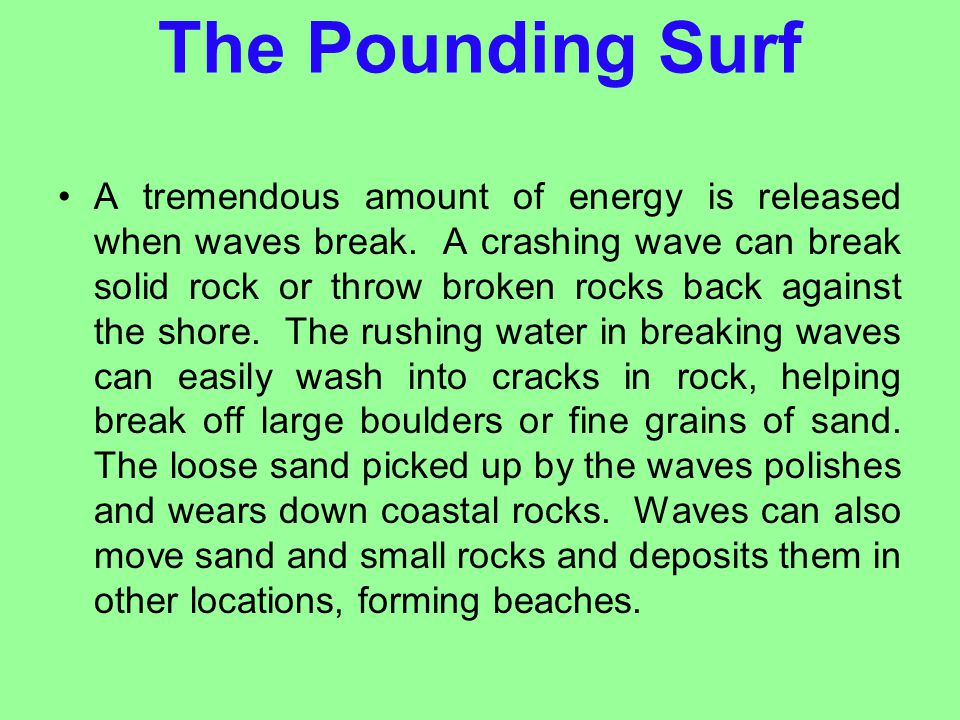 The Pounding Surf