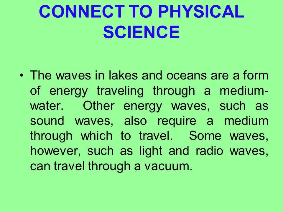 CONNECT TO PHYSICAL SCIENCE