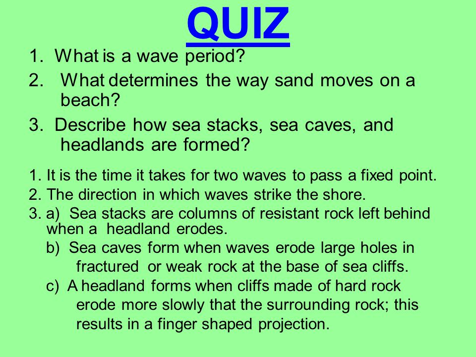 QUIZ 1. What is a wave period