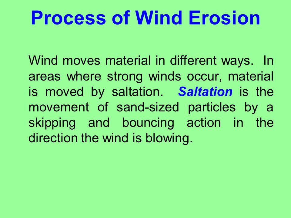 Process of Wind Erosion