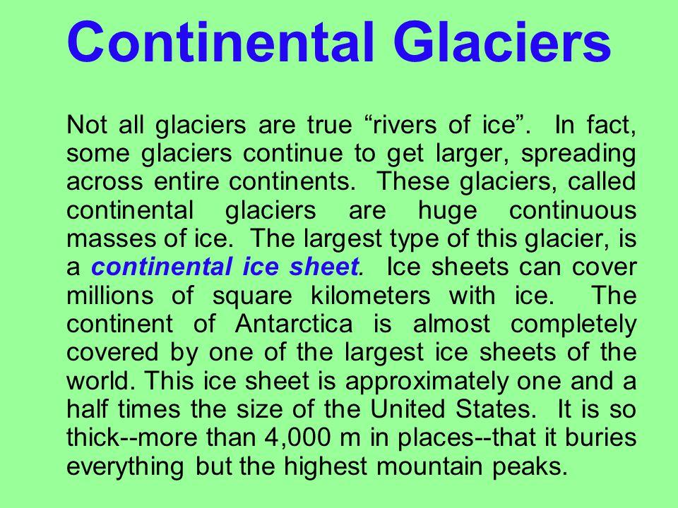 Continental Glaciers