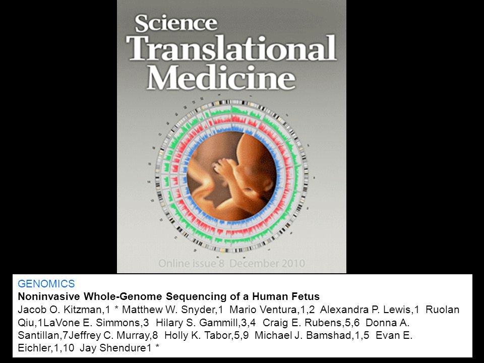 GENOMICS Noninvasive Whole-Genome Sequencing of a Human Fetus.