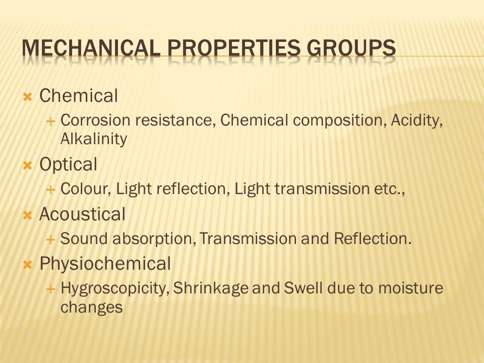 Mechanical properties groups
