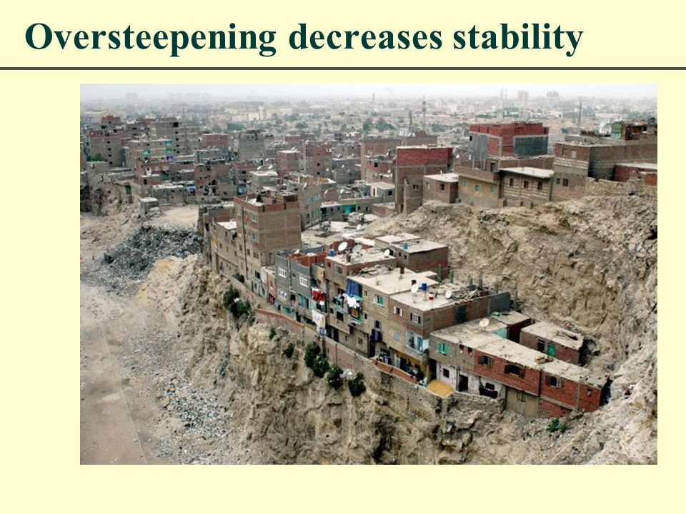 Oversteepening decreases stability