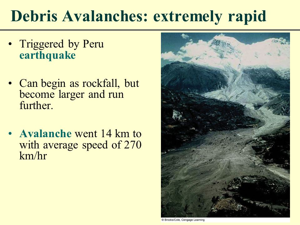 Debris Avalanches: extremely rapid