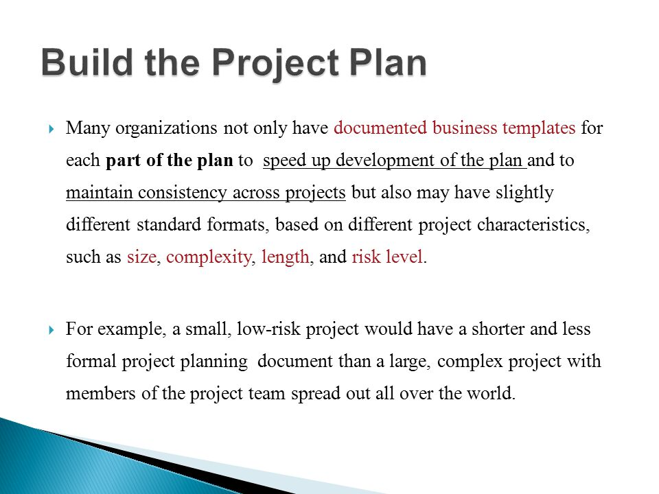 Build the Project Plan