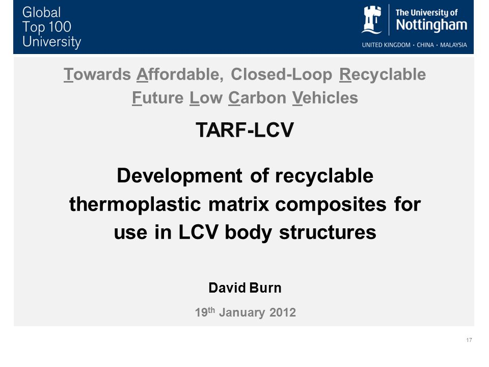 Towards Affordable, Closed-Loop Recyclable Future Low Carbon Vehicles