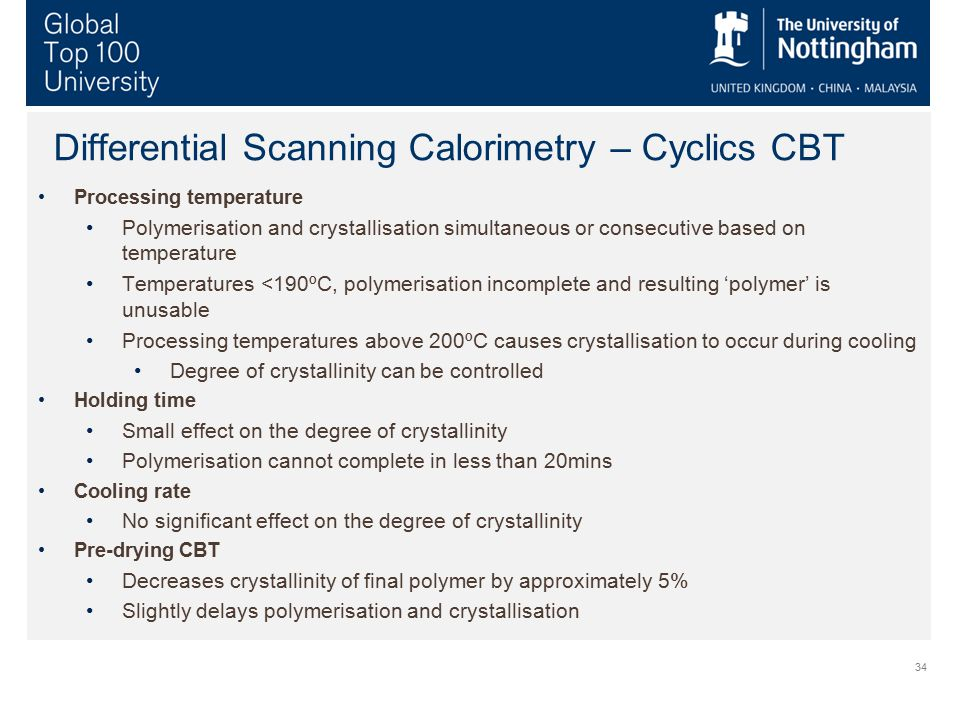 Differential Scanning Calorimetry – Cyclics CBT