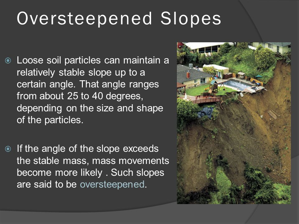 Oversteepened Slopes