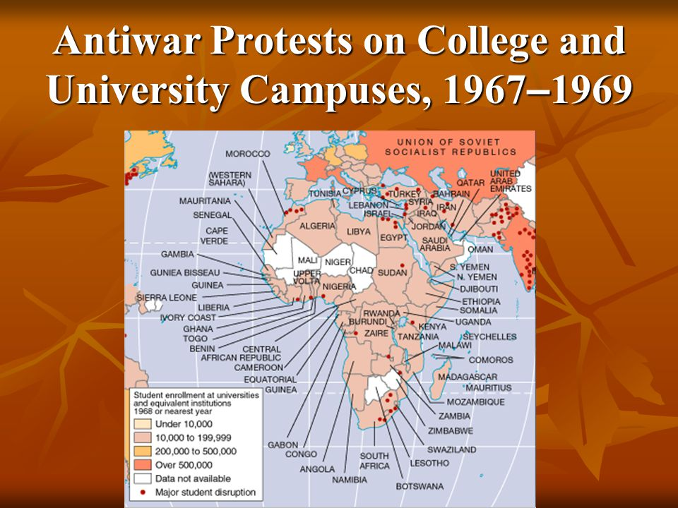 Antiwar Protests on College and University Campuses, 1967–1969