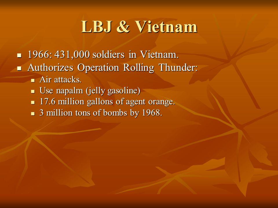 LBJ & Vietnam 1966: 431,000 soldiers in Vietnam.