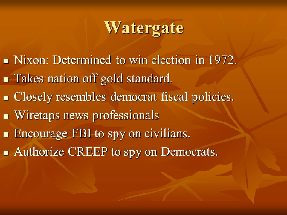 Watergate Nixon: Determined to win election in 1972.