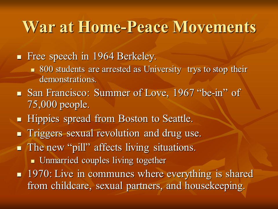 War at Home-Peace Movements