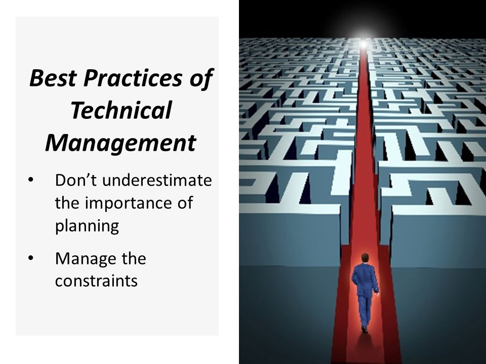 Best Practices of Technical Management