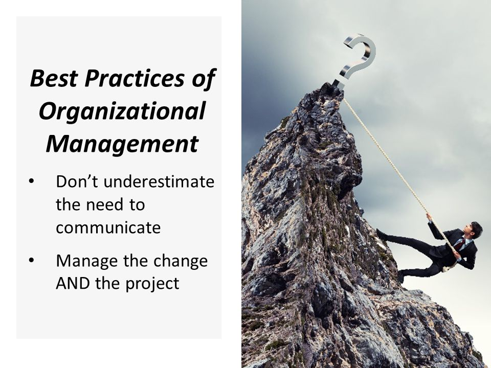 Best Practices of Organizational Management