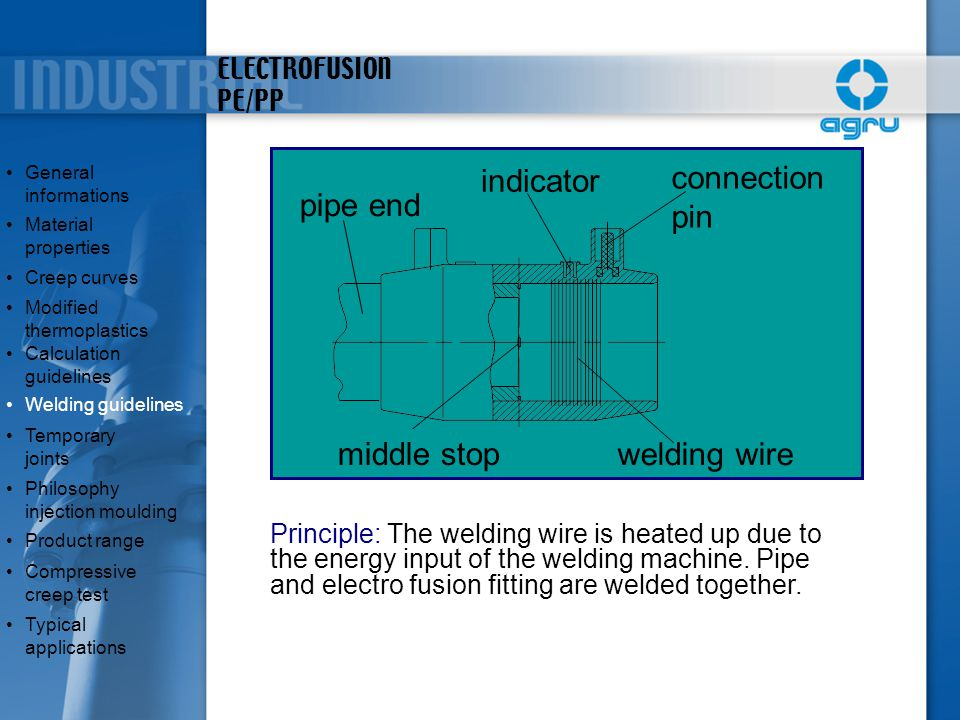 connection pin indicator pipe end middle stop welding wire