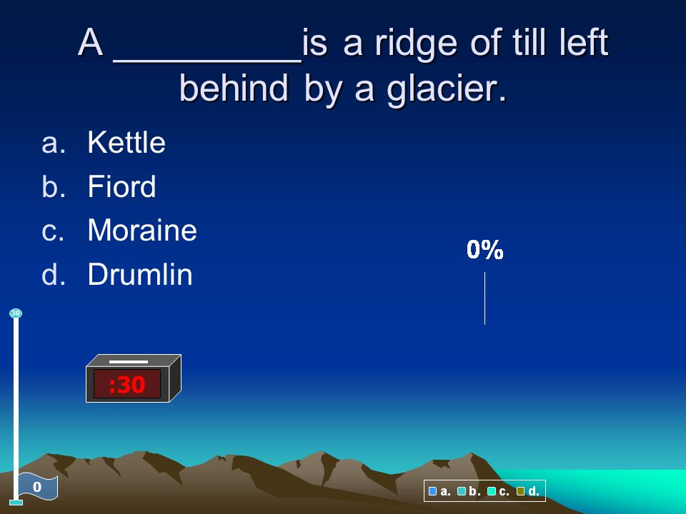 A _________is a ridge of till left behind by a glacier.