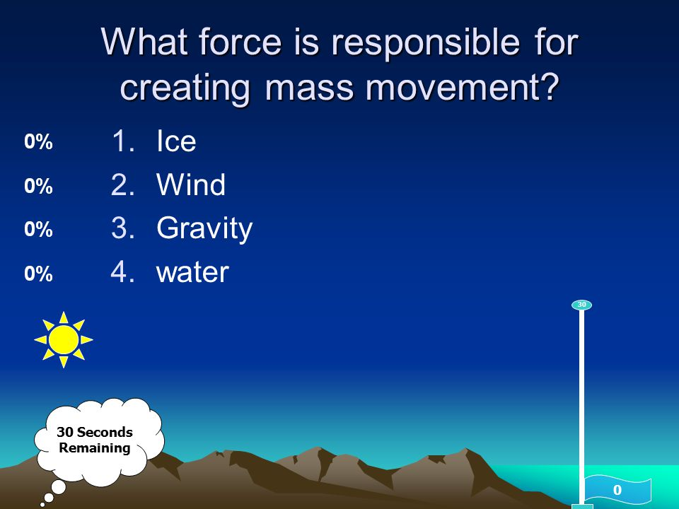 What force is responsible for creating mass movement
