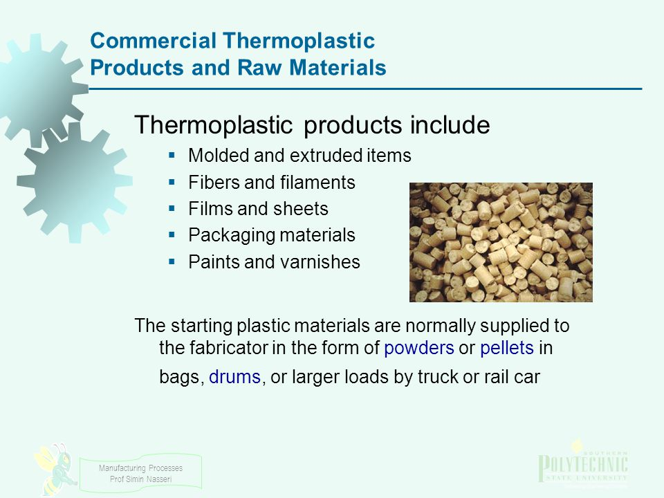 Commercial Thermoplastic Products and Raw Materials