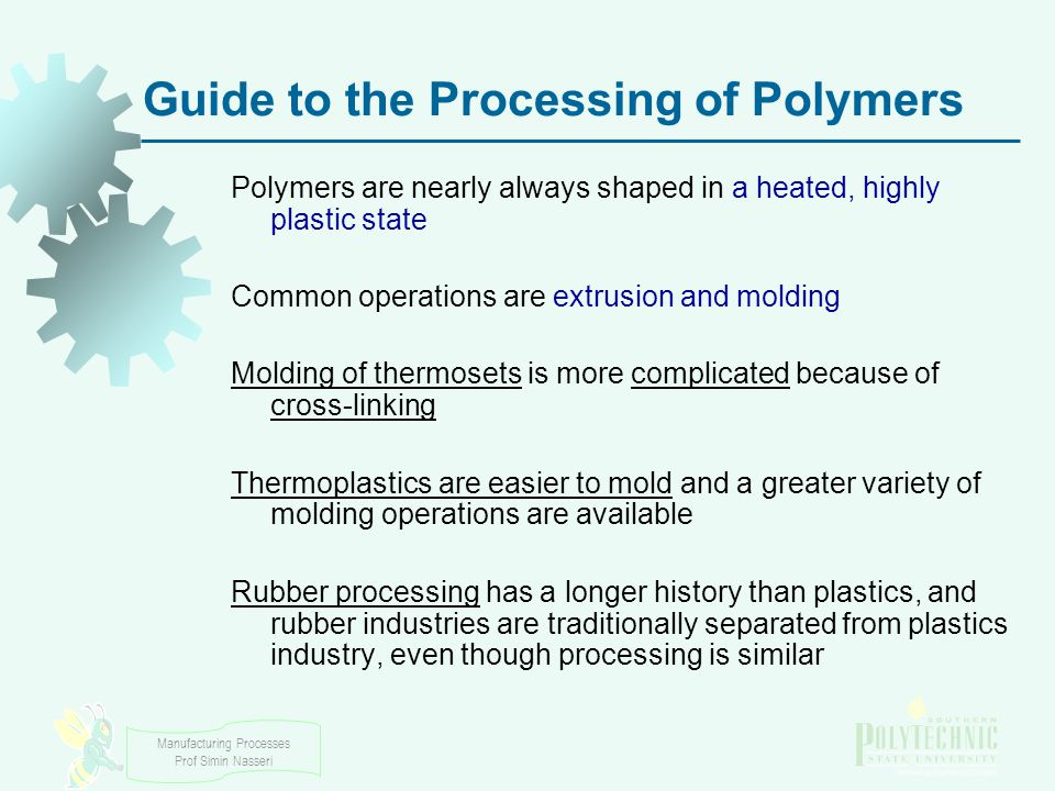 Guide to the Processing of Polymers