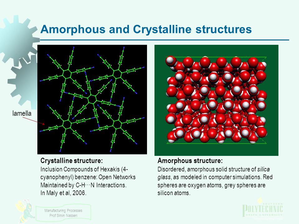 Amorphous and Crystalline structures