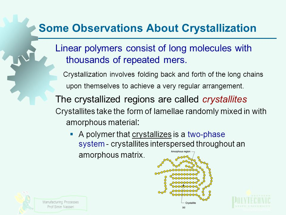 Some Observations About Crystallization