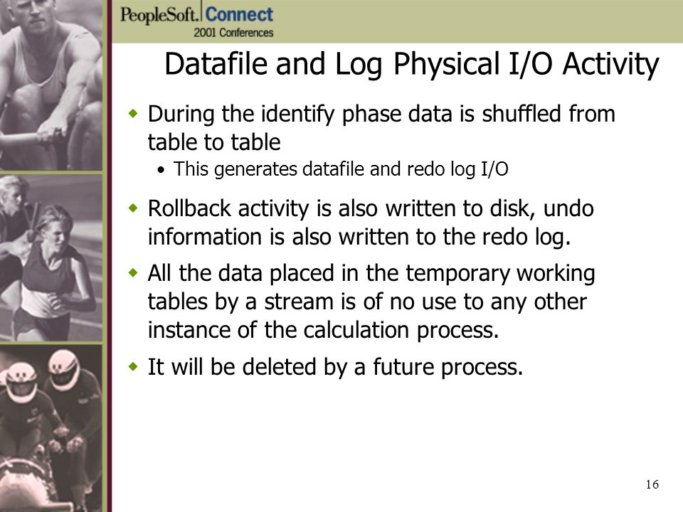 Datafile and Log Physical I/O Activity