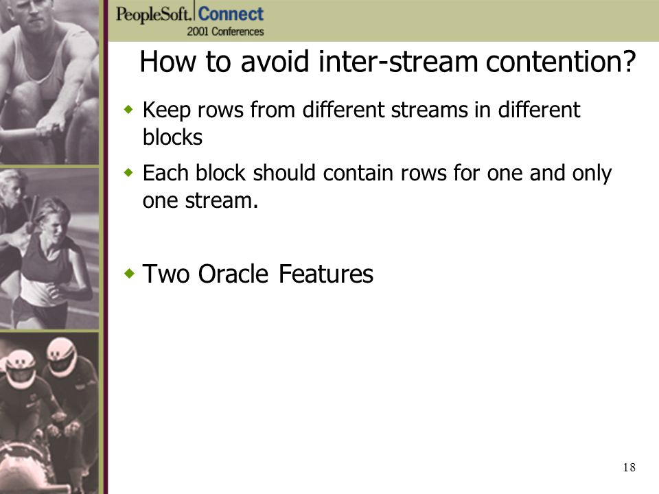 How to avoid inter-stream contention
