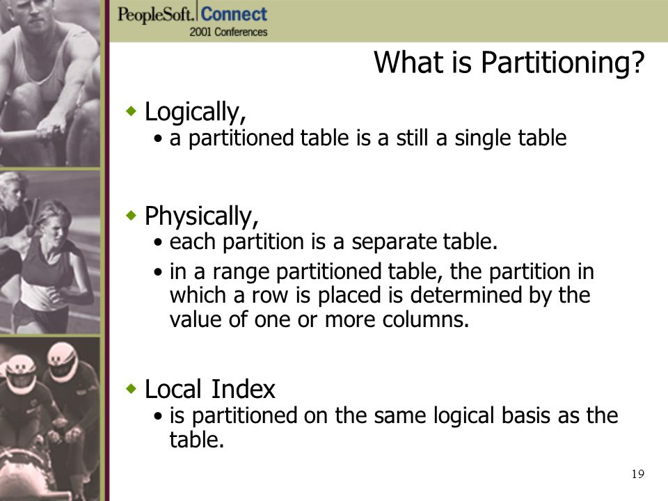 What is Partitioning Logically, Physically, Local Index