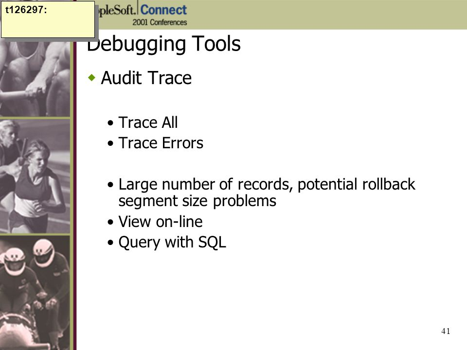 Debugging Tools Audit Trace Trace All Trace Errors