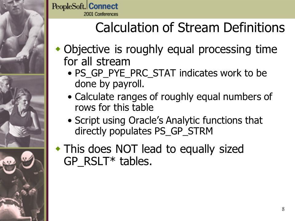 Calculation of Stream Definitions