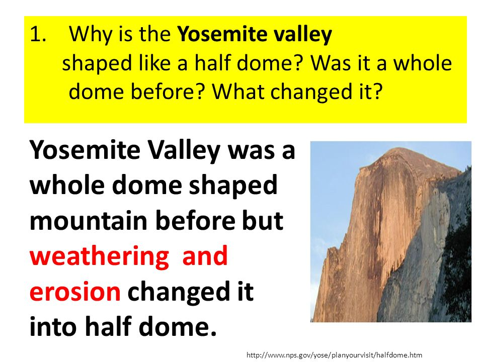 Why is the Yosemite valley