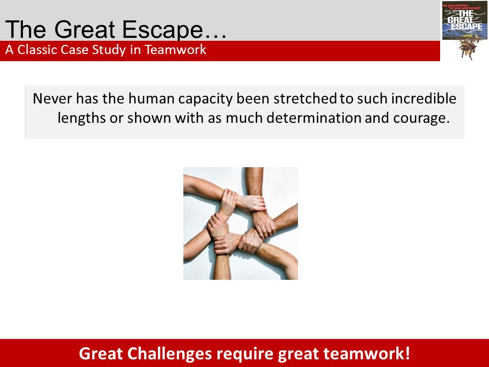 Great Challenges require great teamwork!