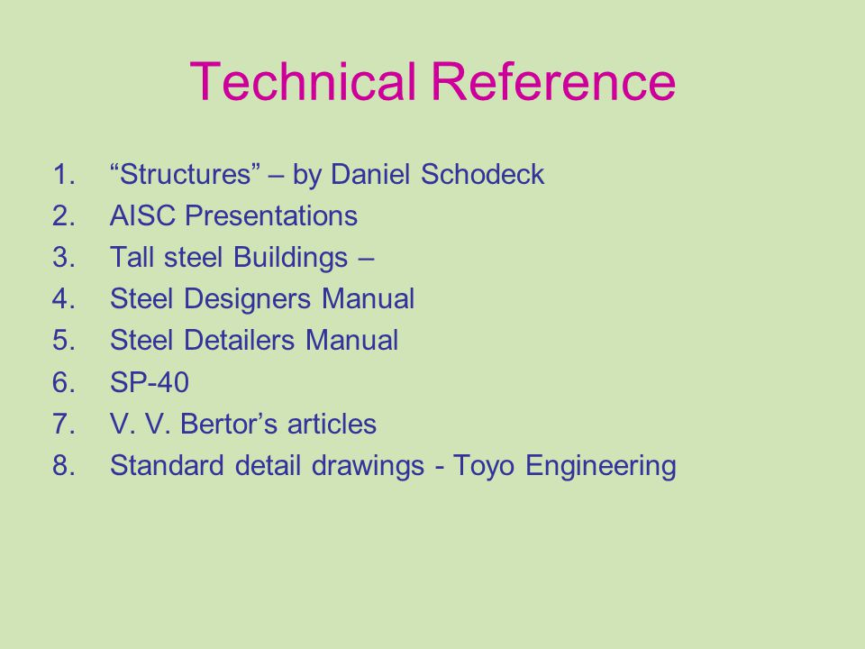 Technical Reference Structures – by Daniel Schodeck