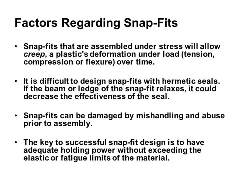 Factors Regarding Snap-Fits
