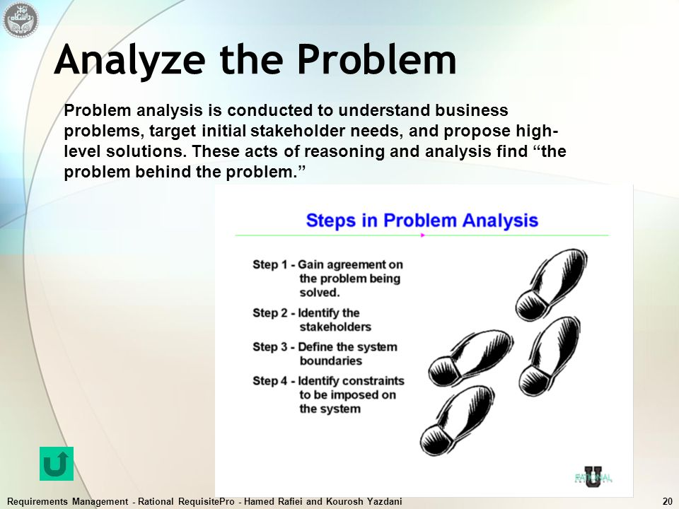 Analyze the Problem
