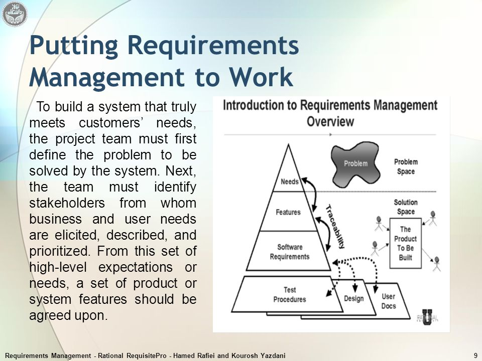 Putting Requirements Management to Work